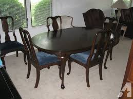 Solid Cherry Dining Room Table With 6 Chairs