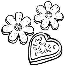 Cookie clipart coloring 8