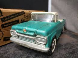100 59 Ford Truck PRESSED STEEL TOYS FORD SALES AND SERVICE TRUCK No3800 No