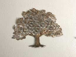 Tree Wall Decor With Pictures by 20 Inspirations Metal Oak Tree Wall Art Wall Art Ideas