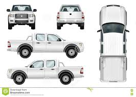 100 White Pick Up Truck Vector Up On Background Stock Vector Illustration