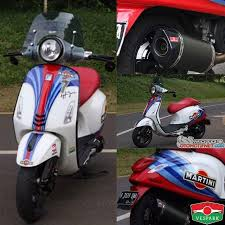 Modified Vespa Primavera 150 3Vie Inspired By F1 Williams Martini Racing Team With Remus Exhaust More Info At Otomotifnet