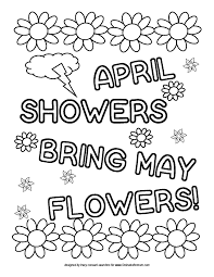 Coloring Sheet April Showers