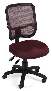 Acrylic Desk Chair With Arms by Amazon Com Ofm Comfort Series Ergonomic Mesh Swivel Armless Task