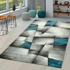 kurzflor teppich modern wohnzimmer karo design