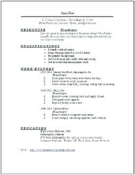 Resume For Housekeeping Job Examples Objective