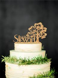 Tree Wedding Cake Topper By Rustic Deco
