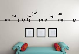 Absolutely Smart Wall Art Birds Or On A Wire Bird Nursery Woodland Wood Flying Branch