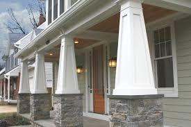 Tapered Porch Columns Custom PVC Column Wraps 3 Craftsman Style 8
