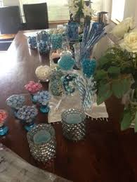 Table And Decor Found Filled Backyard Sweet 16 In Tiffany Blue