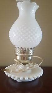 vintage underwriters laboratories hobnail milk glass portable l