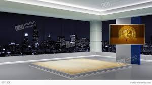 News TV Studio Set 89