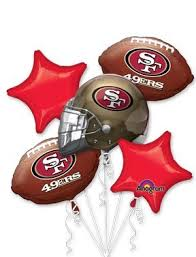 Anagram International Bouquet 49ers Party Balloons Multicolor