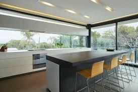 photo de cuisine design plan de travail béton ciré pour l îlot de la cuisine design creativity