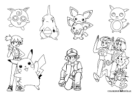 Ashes Pokemon Coloring Pages