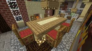 Minecraft Kitchen Ideas Ps3 by Minecraft Furniture Chairs And Table With Runner Wool Base