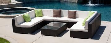 Elegant Black Wicker Outdoor Sectional Outdoor Patio Furniture