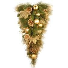 Upside Down Christmas Tree Artificial Hanging Teardrop Decor Pre Lit Cones 3ft