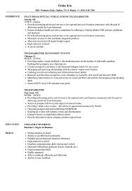 Download Telemarketer Resume Sample As Image File