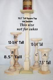 Unfinished Wooden Cake Stands Wedding Stand Wood Rustic