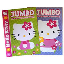 Hello Kitty Set Of 2 Jumbo Coloring And Activity Books For Kids Each Book Contains