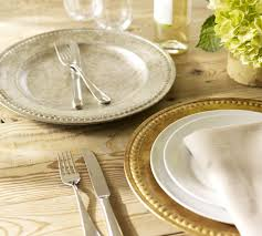 Beaded Gilt Charger | Pottery Barn AU Pottery Barn Asian Square Green 6 Inch Dessert Snack Plates Shoaza Ding Beautiful Colors And Finishes Of Stoneware Dishes 2017 Ikea Hack We Loved The Look Of Pbs Catalina Room Dishware Sets Red Dinnerware Fall Decorations My Glittery Heart Kohls Dinner 4 Sausalito Figpurple Lot 2 Salad Rimmed Grey Target