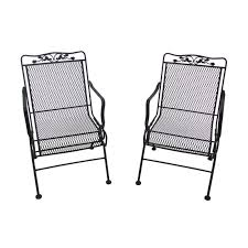 Details About Glenbrook Patio Action Chairs Wrought Iron Frame With Rocking  Motion Pack Of 2 42 Black Metal Outdoor Fniture Ding Phi Villa 300lbs Wrought Iron Patio Bistro Chairs With Armrest For Genbackyard 2 Pack Wrought Iron Garden Fniture Mainstays 3piece Set Gorgeous Patio Design Using Black Chair And Round Table With Curving Legs Also Fabric Arlington House Chair Commercial Sams Club 2498 Slat At Home Lck Table2 Chairs Outdoor Gray Mesh Back