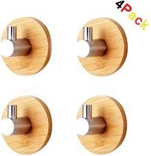 selbstklebend haken 304 edelstahl bambus bademantelhaken wandhaken küche handtuchhalter kleiderhaken ohne bohren bad küche büro haken handtuchhaken