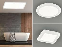 details zu led deckenlen in weiß mit dimmer für bad ankleidezimmer eckige runde ip44