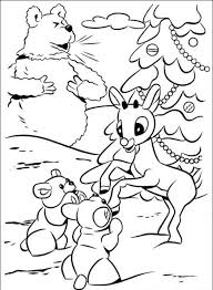 Free Printable Rudolph The Red Nosed Reindeer Coloring Pages For Kids Color This Sheets And A Book Of