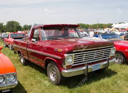 100 F100 Ford Truck IOLA WI JULY 13 Side Of Vintage Red Pickup
