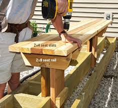building decks framing a bench parallel to joists step 2 deck