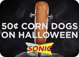 Chipotle Halloween Special 2015 by Sonic Drive In 50 Corn Dogs On Halloween U2013 Hip2save