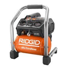 RIDGID 1 Gal 18 Volt Brushless Cordless Air pressor R0230