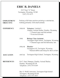 Job Resume Examples Resumes First Time Template Superb For High School Student Summer