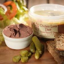 chicken liver paté with smoked bacon port on the pig s back