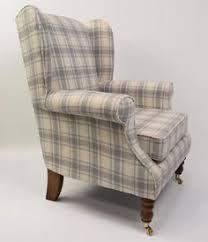 iona shetland pebble tartan wingback chair the millshop