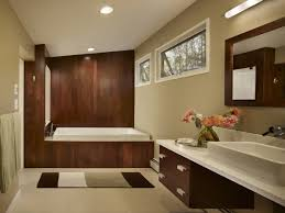 Full Picture Bathroom Rectangle White Porcelain Sink Mounted Mid Century Modern Fixtures Under Counter Walls Painted