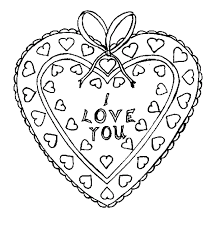 I Love You Printable Valentines Day Coloring Pages