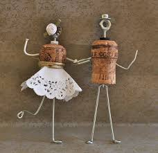DIY Wire And Wine Cork Groom Bride Cake Topper Unique Wedding