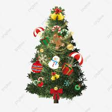 Red Christmas Tree Gift Christmas Decoration PNG Transparent