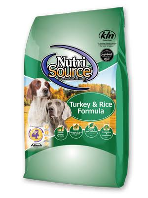 NutriSource 30 lbs Turkey & Rice Recipe Dry Dog Food