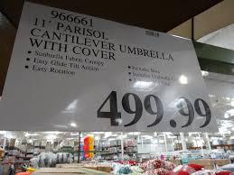 Sunbrella Patio Umbrella 11 Foot by 11 Foot Parisol Cantilever Umbrella