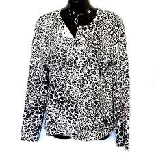 leopard print cardigan sweater jones new york womens size m long