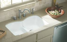 Kohler Executive Chef Sink Biscuit by Traditional Kitchen Idea In Seattle With A Farmhouse Sink Cabinets