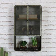 Item 4 Retro Rustic Metal Industrial Style Wall Cabinet Bedroom Bathroom Home Storage
