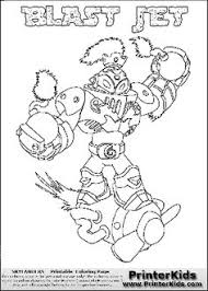 Coloring Page With BLAST JET From The 2013 Skylanders Game Called SwapForce Character In This Print