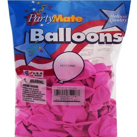 "Pioneer Latex Balloons - Hot Pink, 11"", 72 Pack"