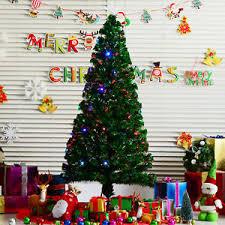 Pre Lit Multicolor Christmas Tree Sale by 6ft Pre Lit Fiber Optic Artificial Christmas Tree Multi Color Led