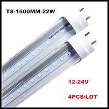 24v 12v t8 led fluorescent light bulb 5ft 5 1 5m 22w